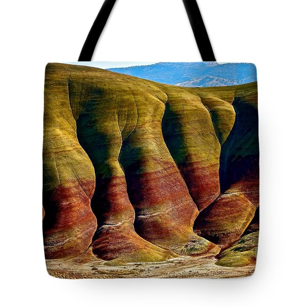 Molten Hills Tote Bag by Michael Cinnamond