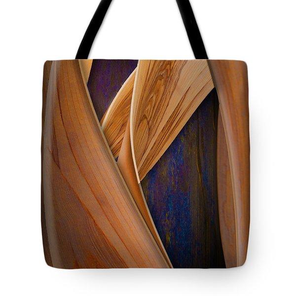 Molten Wood Tote Bag