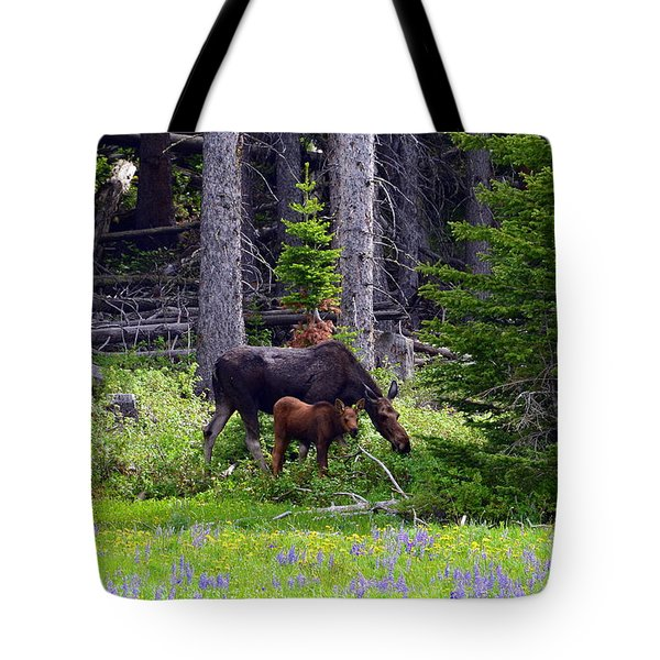 Tote Bag featuring the photograph Mom And Baby by Dorrene BrownButterfield