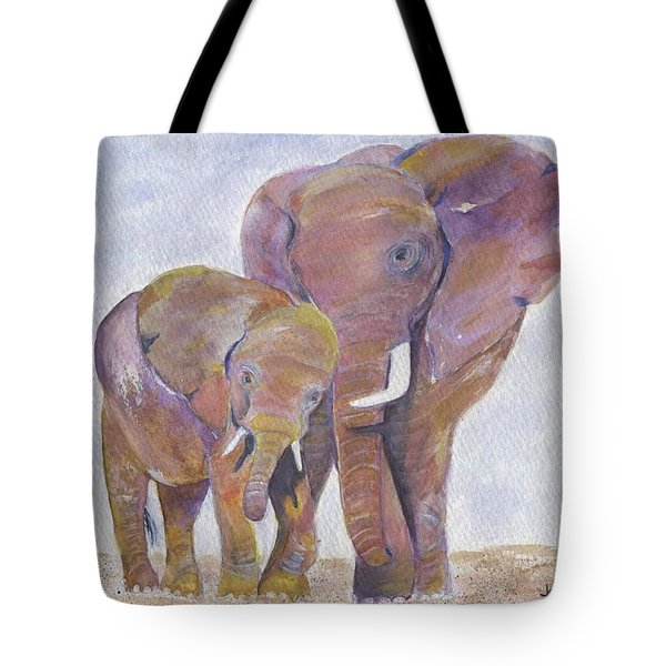 Tote Bag featuring the painting Mom And Me by Jamie Frier