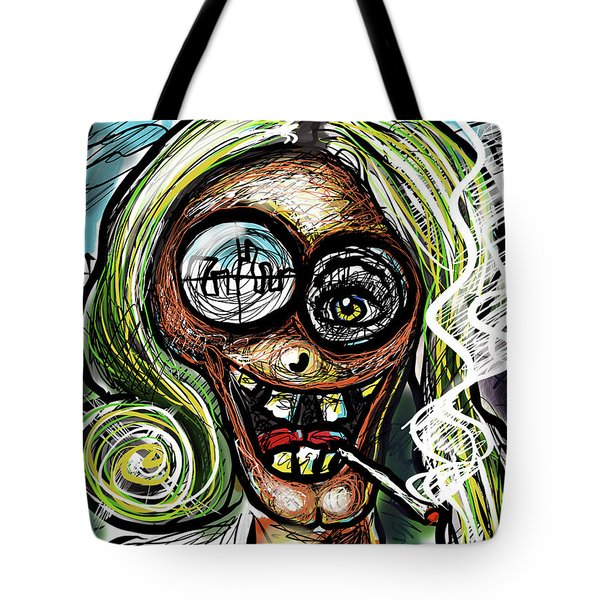 Tote Bag featuring the digital art Mom by Joe Bloch