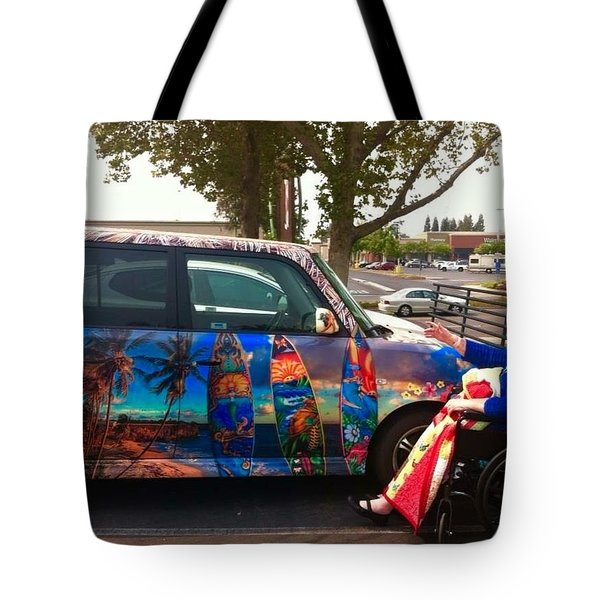 Mom Loves Surf Car Tote Bag