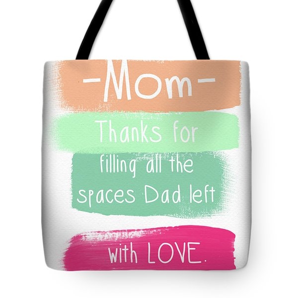 Mom On Father's Day- Greeting Card Tote Bag