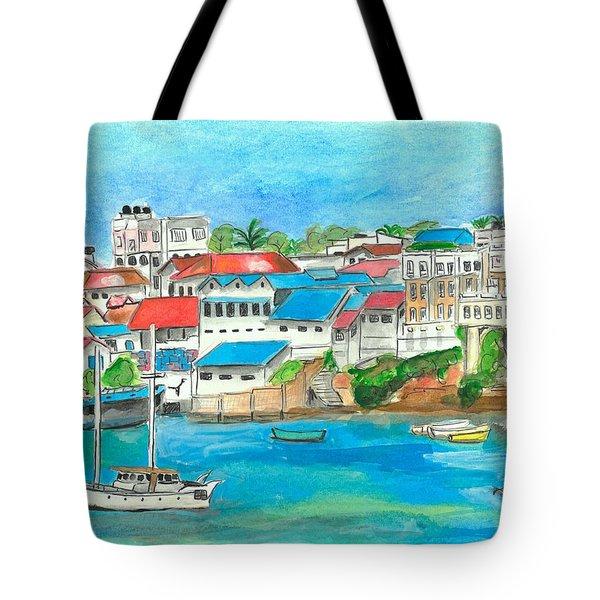 Mombasa Town Tote Bag