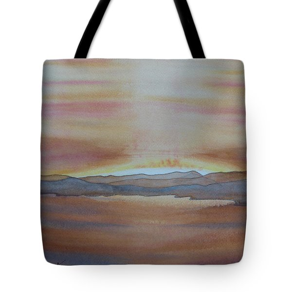 Tote Bag featuring the painting Moment By The Lake by Joel Deutsch