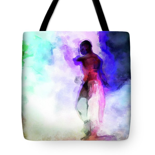 Moment In Blue - African Dancer Tote Bag