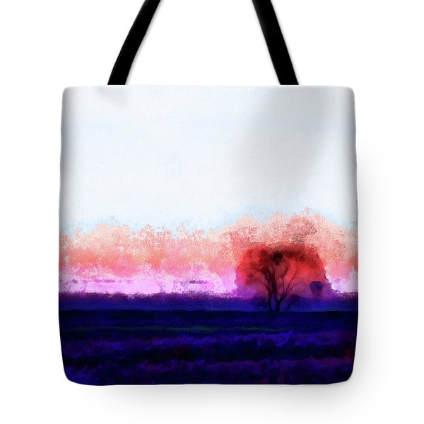 Moment In Blue Horizon Tree Tote Bag by Cedric Hampton