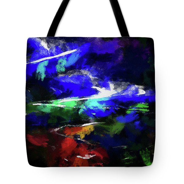 Moment In Blue Lazy River Tote Bag by Cedric Hampton