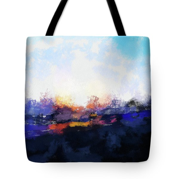 Moment In Blue Spaces Tote Bag by Cedric Hampton