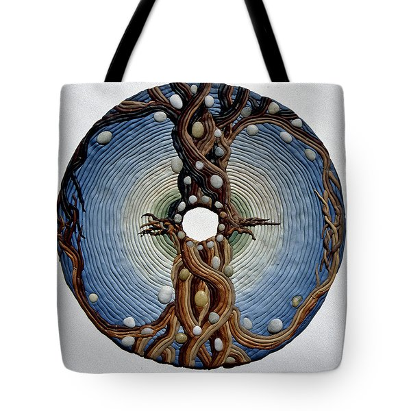 Momentary Node Of Connection - Tears Of Stone Tote Bag by Arla Patch