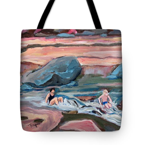 Momma At Slide Rock Park Arizona Tote Bag