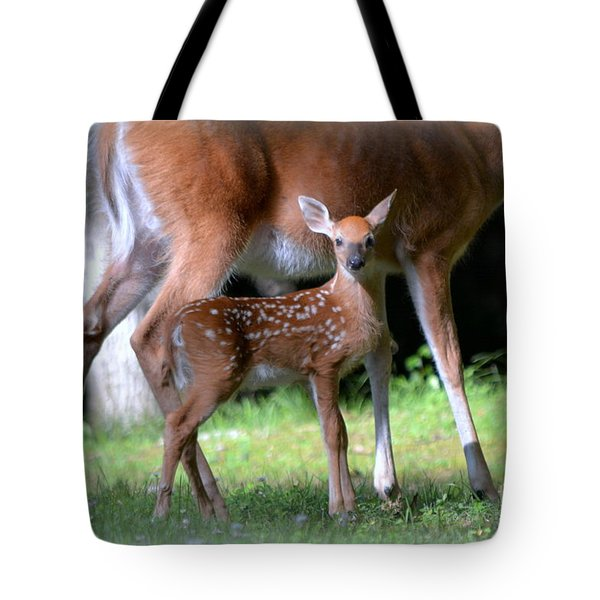 Tote Bag featuring the photograph Mommy And Me by Brenda Bostic