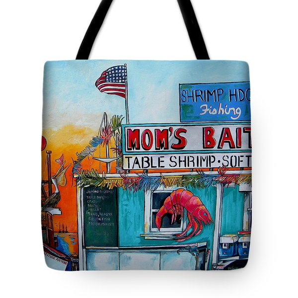 Moms Bait Shop Tote Bag