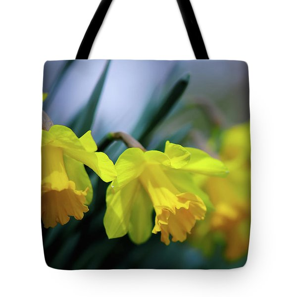 Tote Bag featuring the photograph Mom's Daffs by Lois Bryan