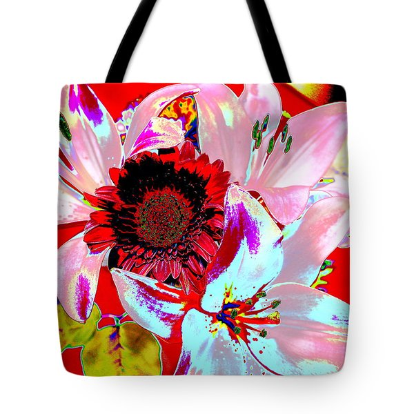 Mom's Day Bouqet Abstract Tote Bag