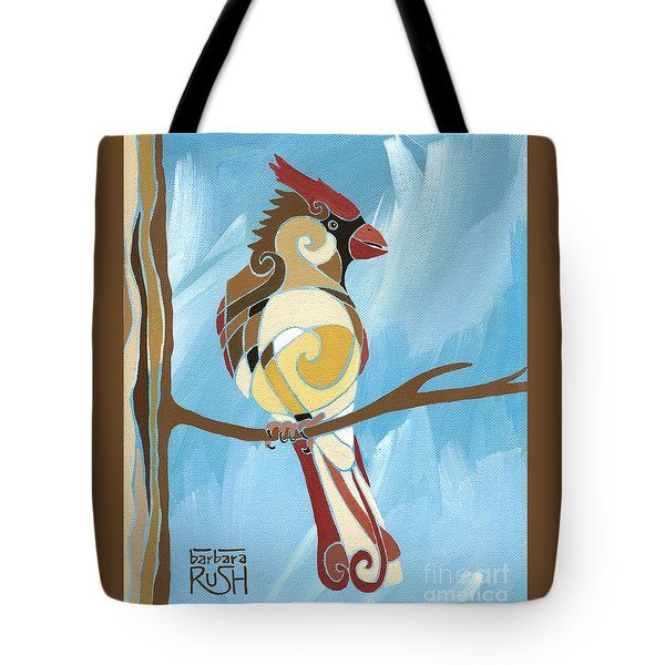 Moms Day Off Female Cardinal Painting Tote Bag