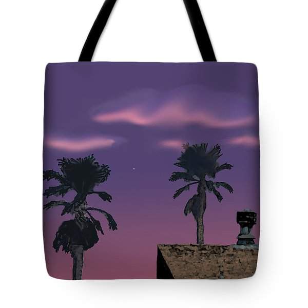 Tote Bag featuring the digital art Mom's House by Walter Chamberlain