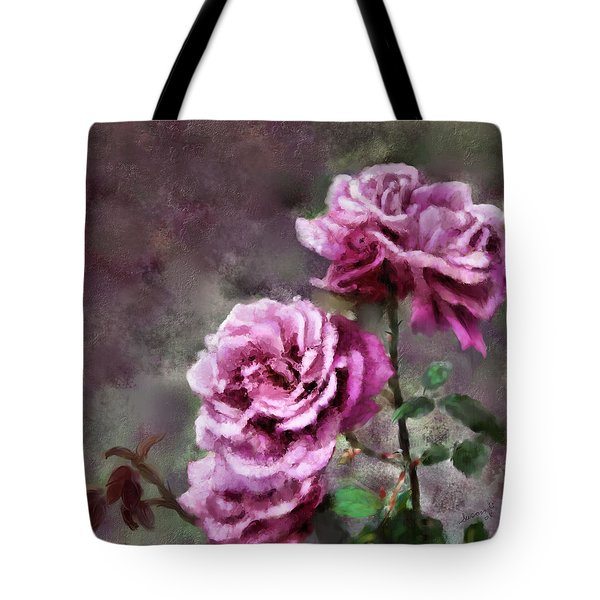 Tote Bag featuring the digital art Moms Roses by Susan Kinney