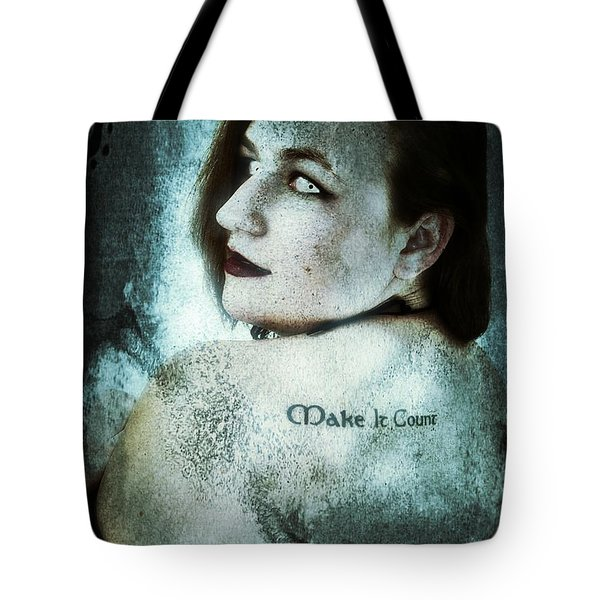 Tote Bag featuring the digital art Mona 1 by Mark Baranowski