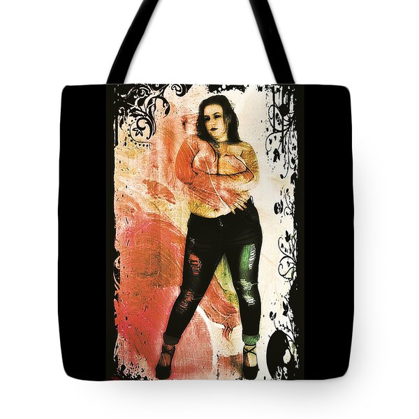 Tote Bag featuring the digital art Mona 2 by Mark Baranowski