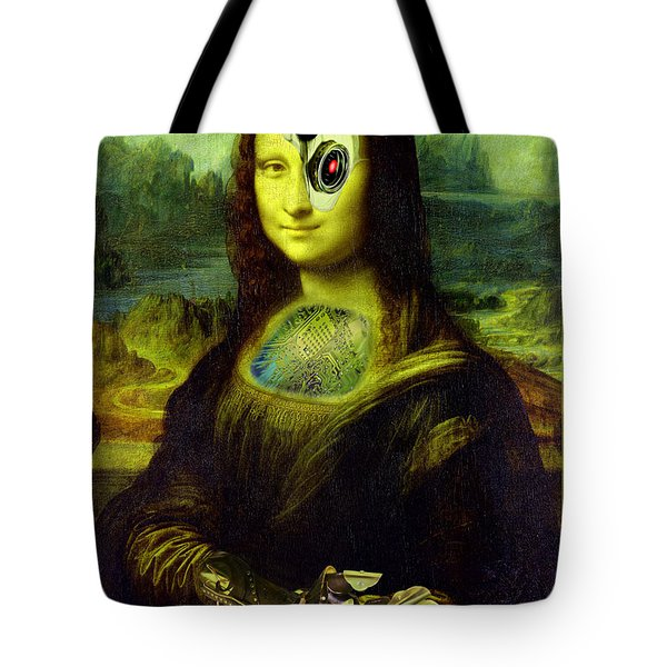 Mona Lisa Borg Tote Bag