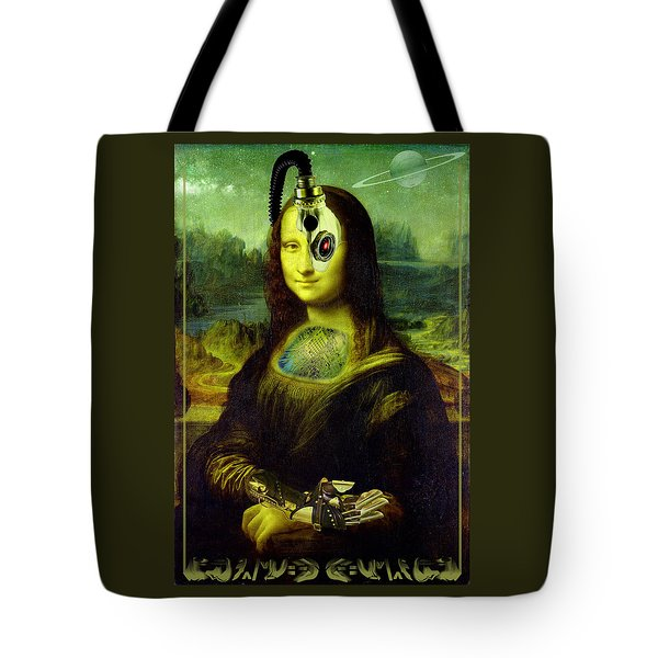 Mona Lisa Borg Tote Bag by Robert Kernodle