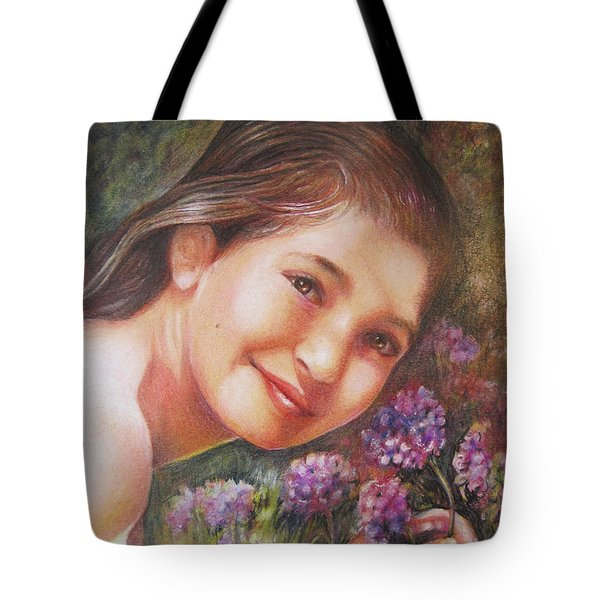 Mona Lisa's Smile Tote Bag