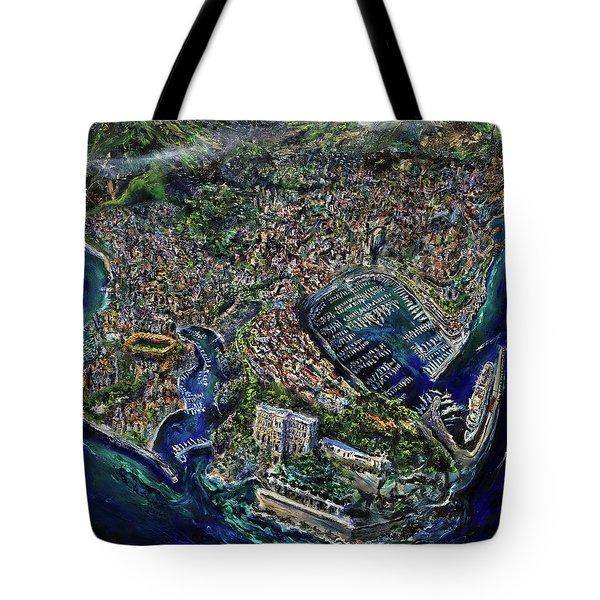 Monaco Tote Bag by Antonio Ortiz