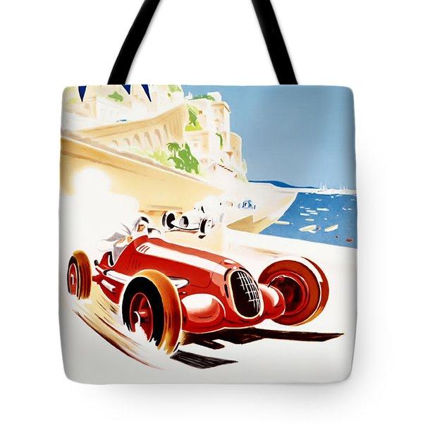 Monaco Grand Prix 1937 Tote Bag by Georgia Fowler