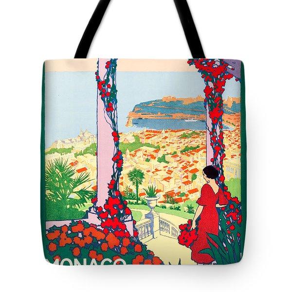Monaco Monte-carlo Travel Poster 1922 Tote Bag