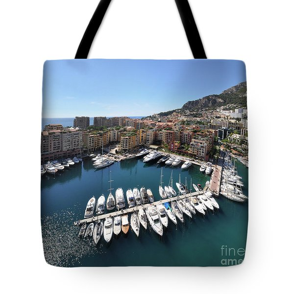 Tote Bag featuring the photograph Monaco Port De Fontvieille  by Yhun Suarez