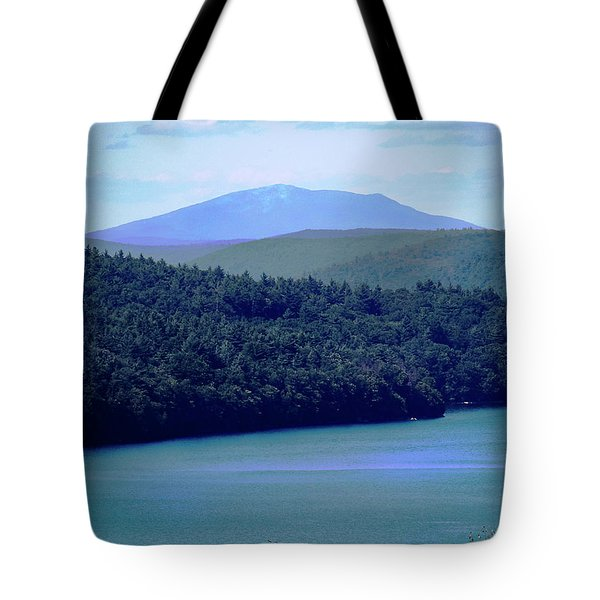 Tote Bag featuring the photograph Monadnock From Quabbin by Michael Friedman