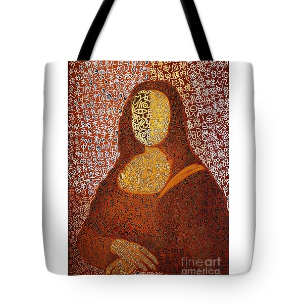Tote Bag featuring the painting Monalisa by Fei A