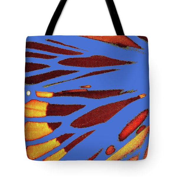 Monarch Abstract Blue Tote Bag