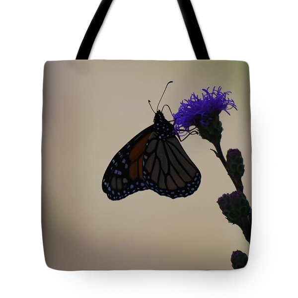 Tote Bag featuring the photograph Monarch Beauty by Ramona Whiteaker