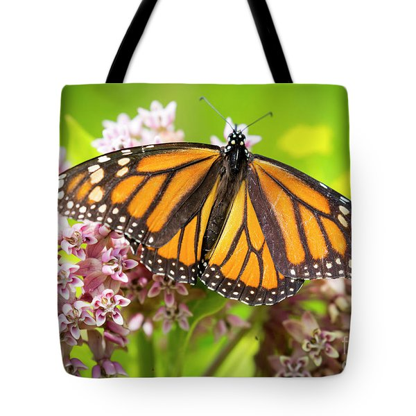 Tote Bag featuring the photograph Monarch Butterfly Closeup  by Ricky L Jones