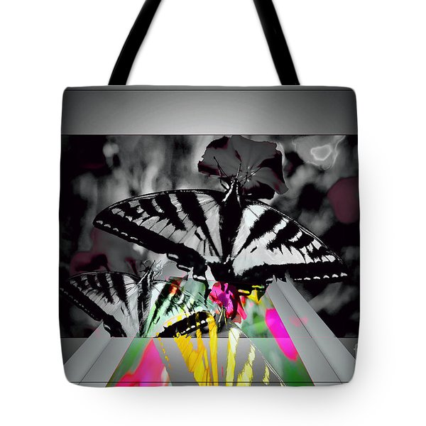 Swallowtail  Butterfly Tote Bag by Elaine Hunter