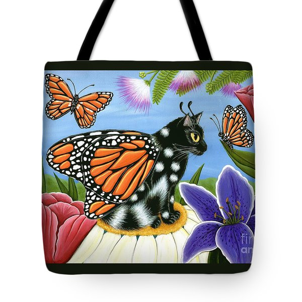 Monarch Butterfly Fairy Cat Tote Bag