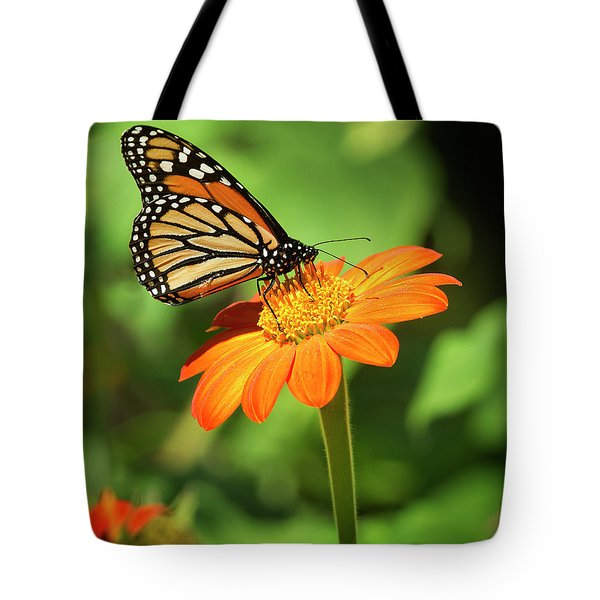 Monarch Butterfly II Vertical Tote Bag