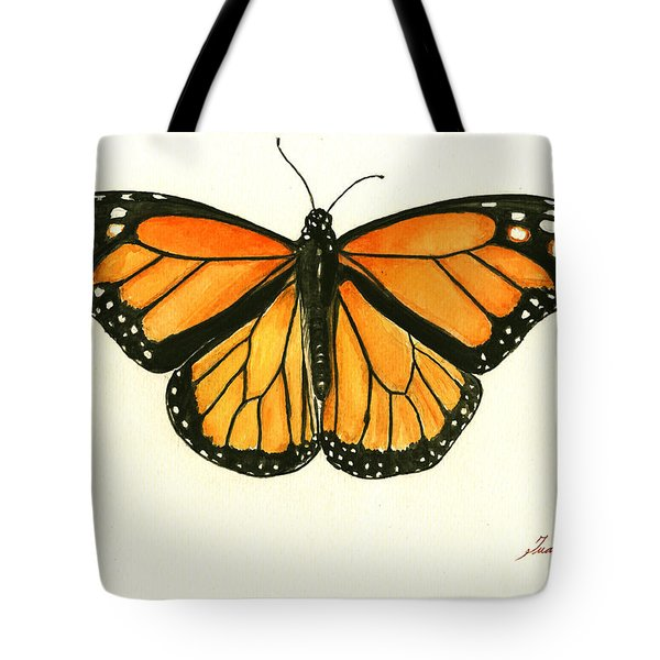 Monarch Butterfly Tote Bag by Juan Bosco