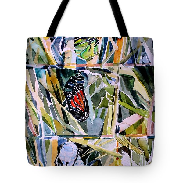 Monarch Butterfly Life Cycle Tote Bag