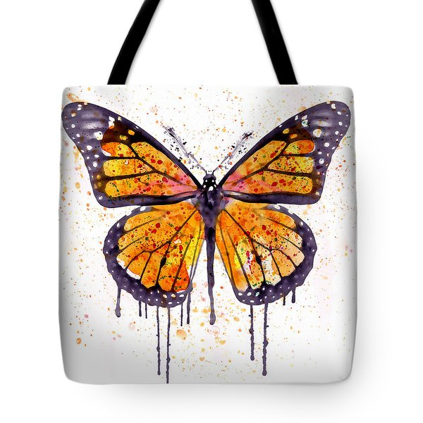 Monarch Butterfly Watercolor Tote Bag
