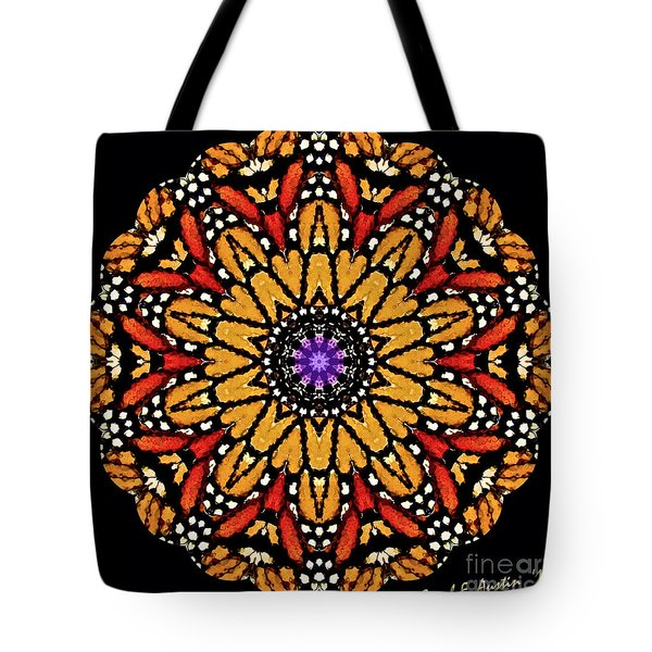 Monarch Butterfly Wings Kaleidoscope Tote Bag