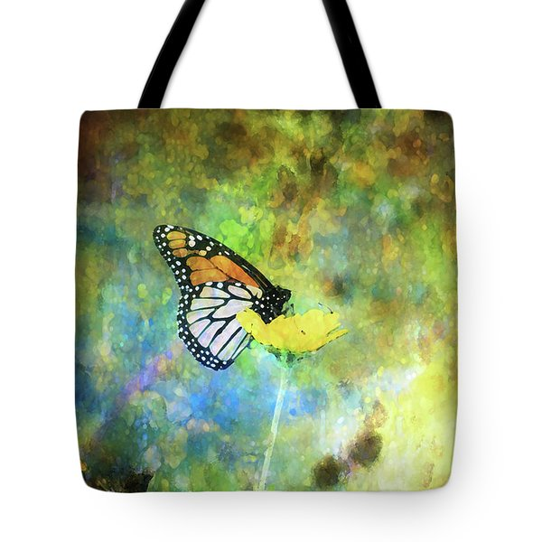 Monarch In Azure And Gold 5647 Idp_2 Tote Bag