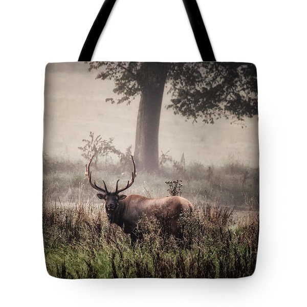 Tote Bag featuring the photograph Monarch In The Mist by Michael Dougherty