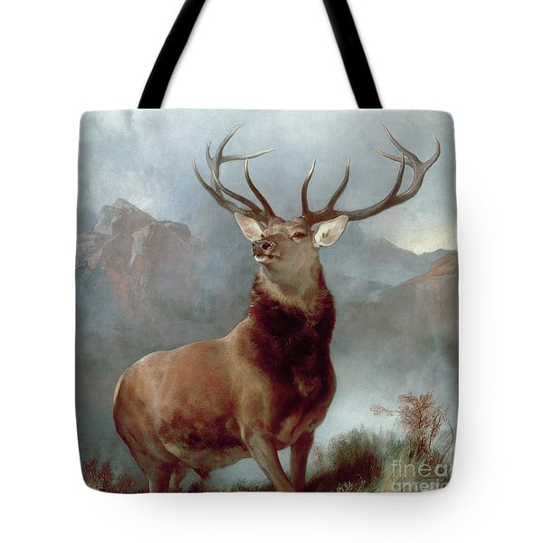 Monarch Of The Glen Tote Bag by Sir Edwin Landseer
