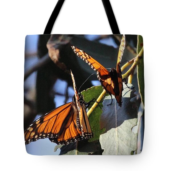 Monarch On Eucalyptus Tote Bag