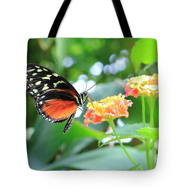 Monarch On Flower Tote Bag