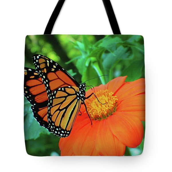 Monarch On Mexican Sunflower Tote Bag