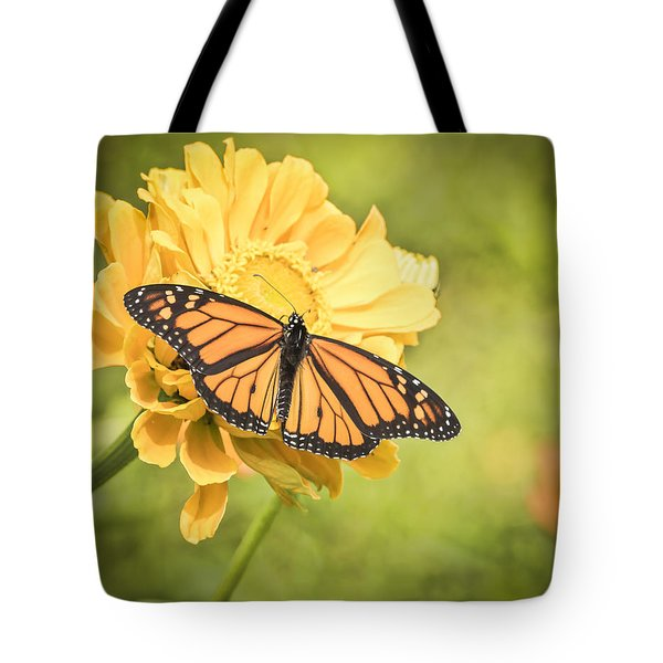 Monarch On Zinnia 5-2015 Tote Bag